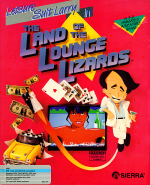 Leisure Suit Larry in the Land of the Lounge Lizards Box Cover