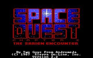 Screenshot for Space Quest: Chapter I - The Sarien Encounter 1