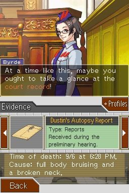 Screenshot for Phoenix Wright: Ace Attorney - Justice for All 4