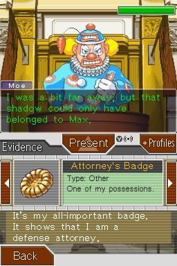 Screenshot for Phoenix Wright: Ace Attorney - Justice for All 1