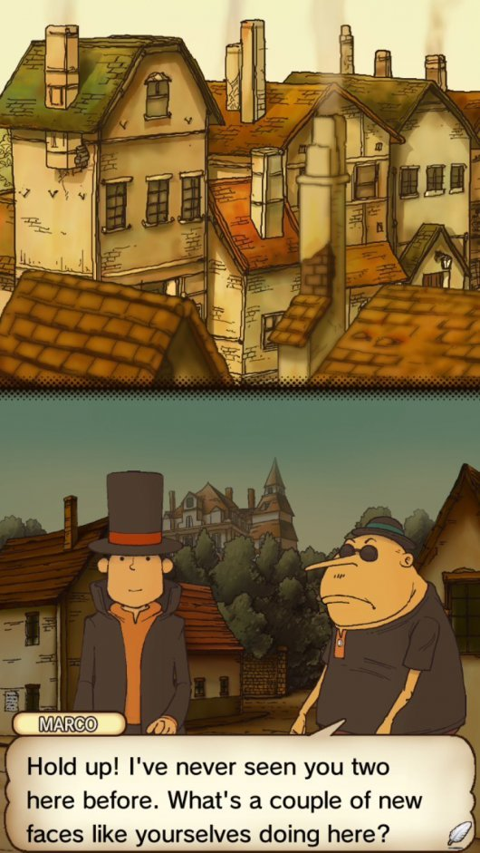 Screenshot for Professor Layton and the Curious Village 1