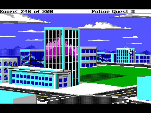 Screenshot for Police Quest 2: The Vengeance 1