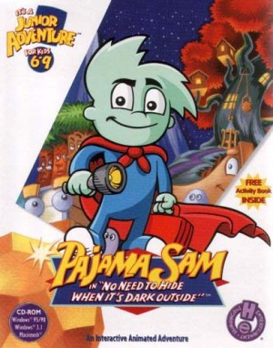 Pajama Sam in 'No Need to Hide When It's Dark Outside' Box Cover