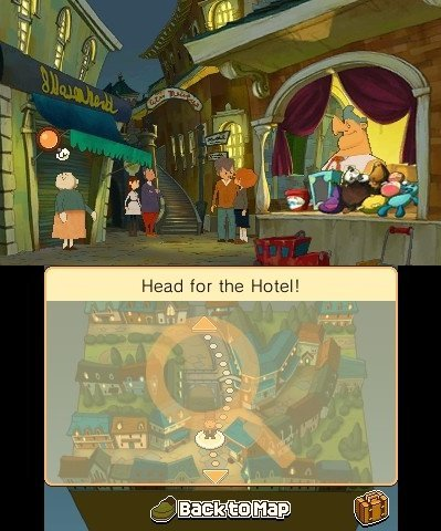 Screenshot for Professor Layton and the Miracle Mask 3