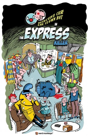 Detective Case and Clown Bot: The Express Killer Box Cover