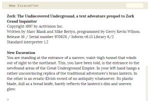 Zork: The Undiscovered Underground Box Cover