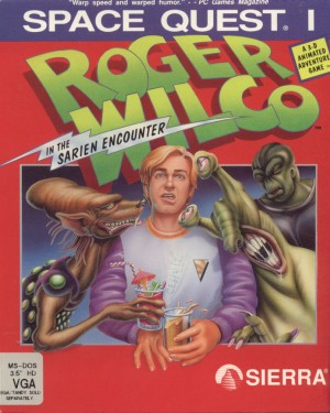 Space Quest I: Roger Wilco in the Sarien Encounter (SCI remake) Box Cover