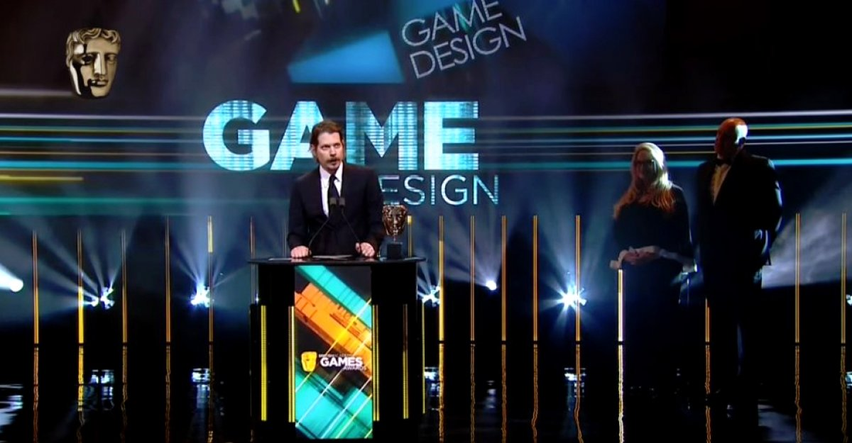 Lucas Pope at the BAFTA Game Awards